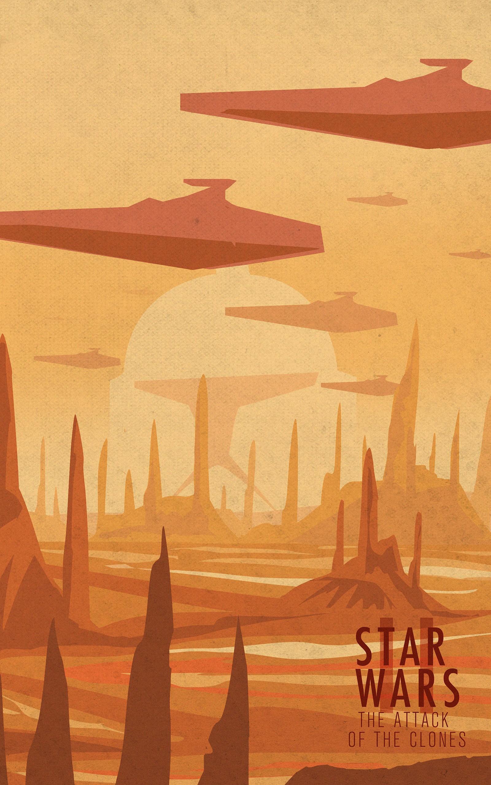 Wallpaper Painting Illustration Star Wars Minimalism