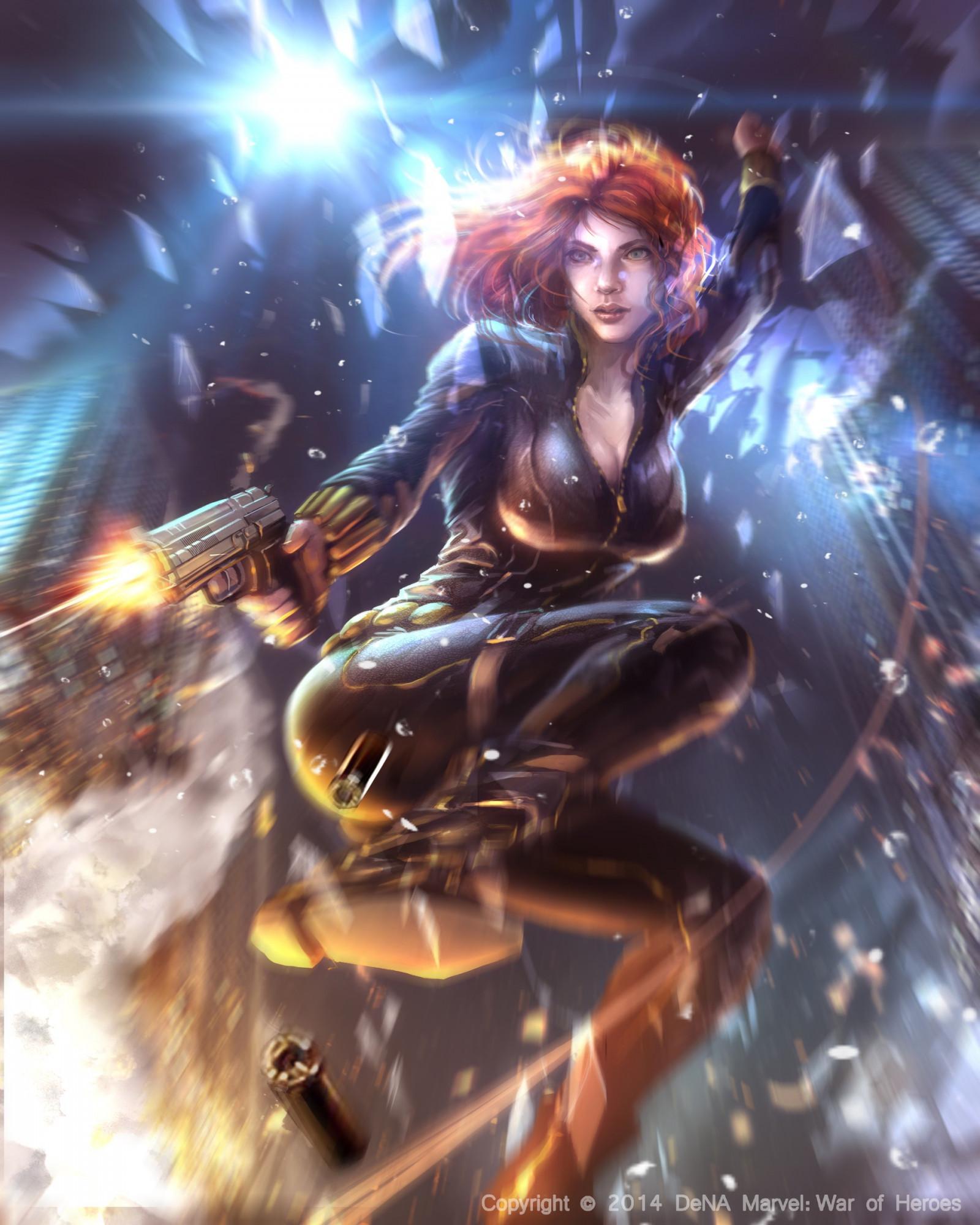 Wallpaper : anime, Black Widow, mythology, screenshot ...