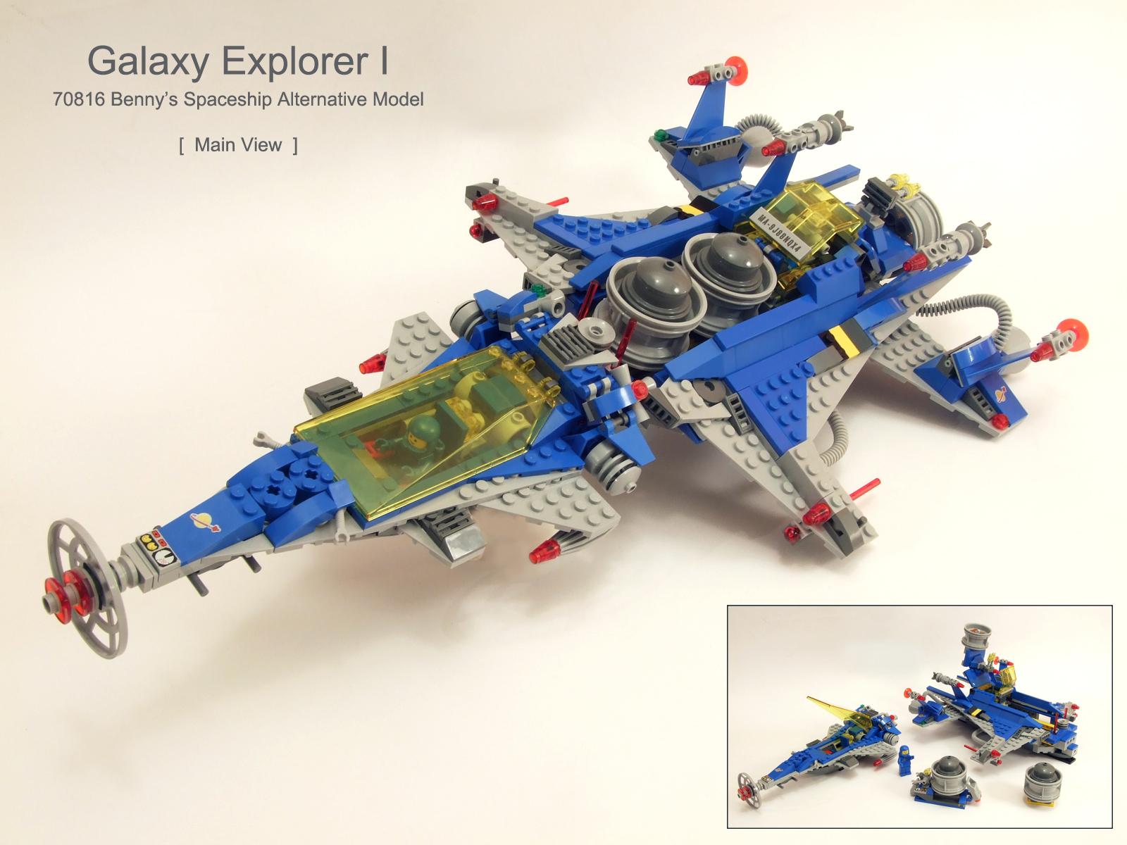 Model Galaxy E Vehicle Lego Eship Toy Machine Explorer Benny Clic Alternative Motor
