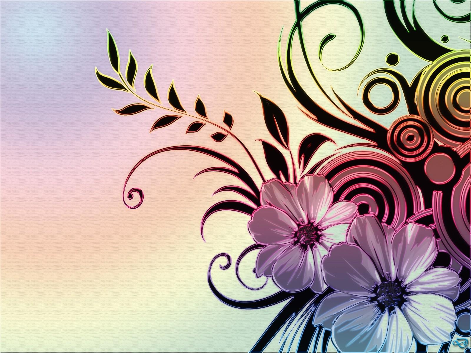 Wallpaper Illustration Flowers Graphic Design Pattern Pink