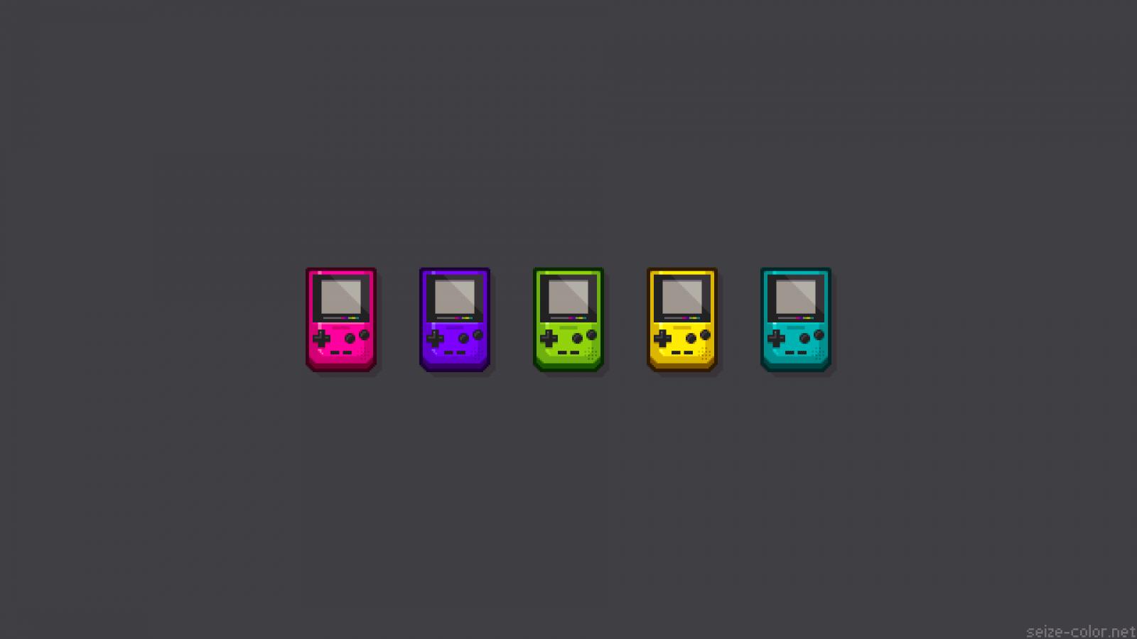 Wallpaper : pixel art, text, logo, brand, GameBoy Color ...