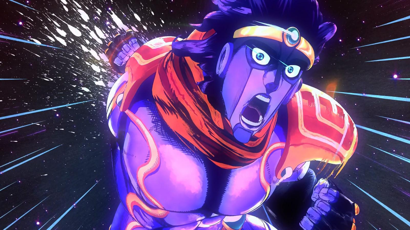 Fond d'écran : Anime, Jojo's Bizarre Adventure, Star Platinum, capture d'écran, Papier peint de ...