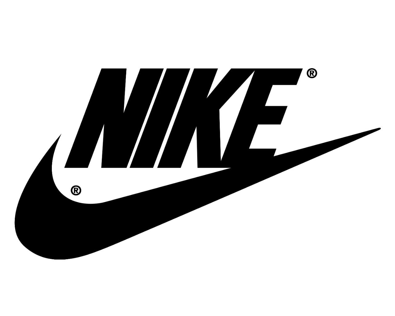 Wallpaper Nike Black White Logo 1280x1024 1075043 Hd