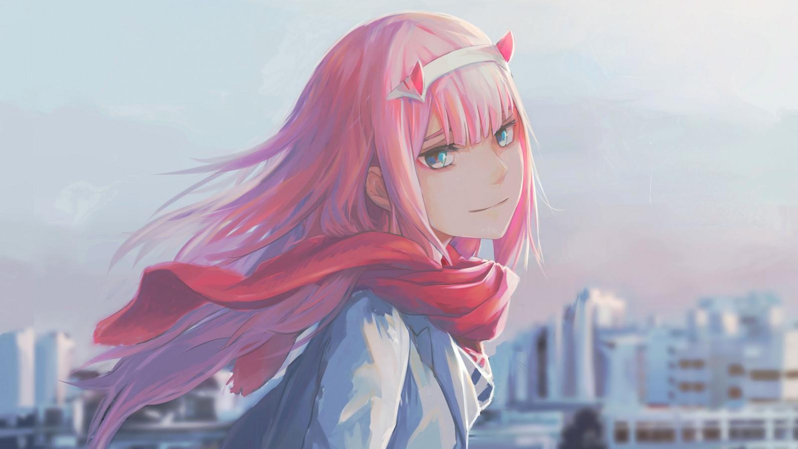 Wallpaper : anime girls, Zero Two, Zero Two Darling in the ...