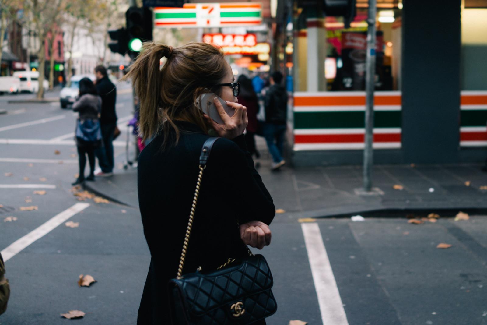 Mädchen in Melbourne