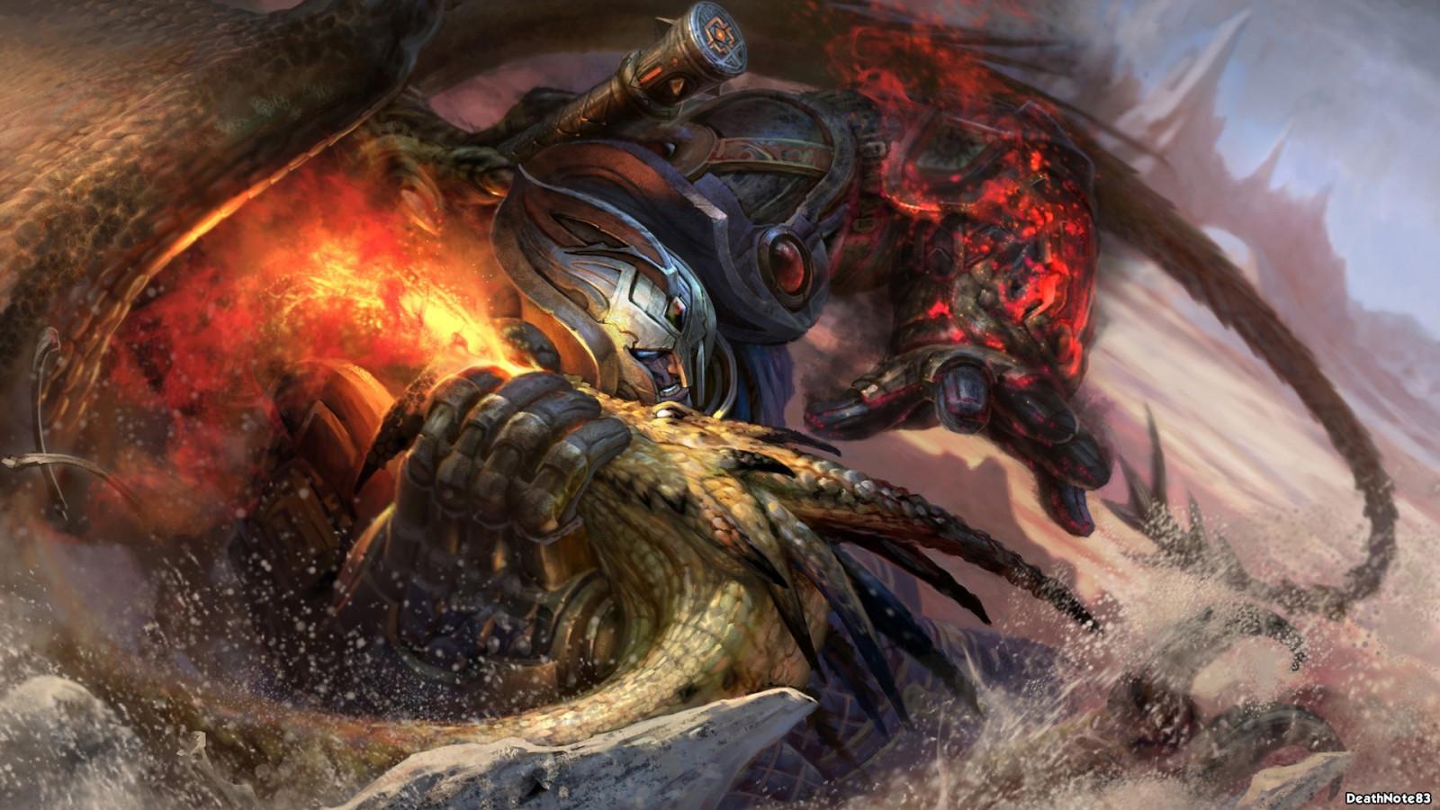 Картинки воин дракона