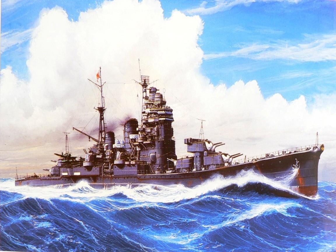 Wallpaper : Japan, vehicle, artwork, military, Battleship