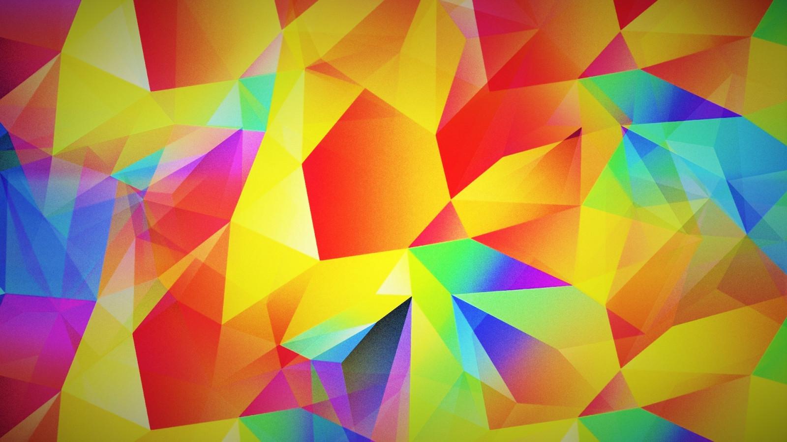 fond d u0026 39  u00e9cran   color u00e9  abstrait  rouge  violet  sym u00e9trie  jaune  bleu  triangle  mod u00e8le  orange