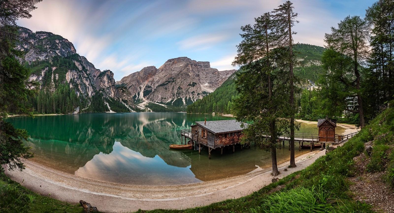 Fond d'écran : lumière du soleil, des arbres, paysage, forêt, Montagnes, Italie, Lac, la nature ...