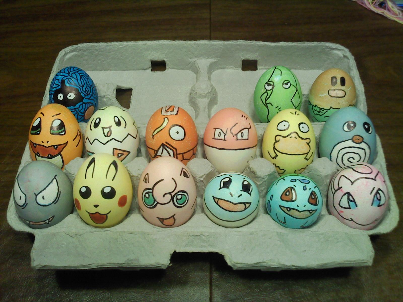 Прикольные рисунки на яйцах к пасхе