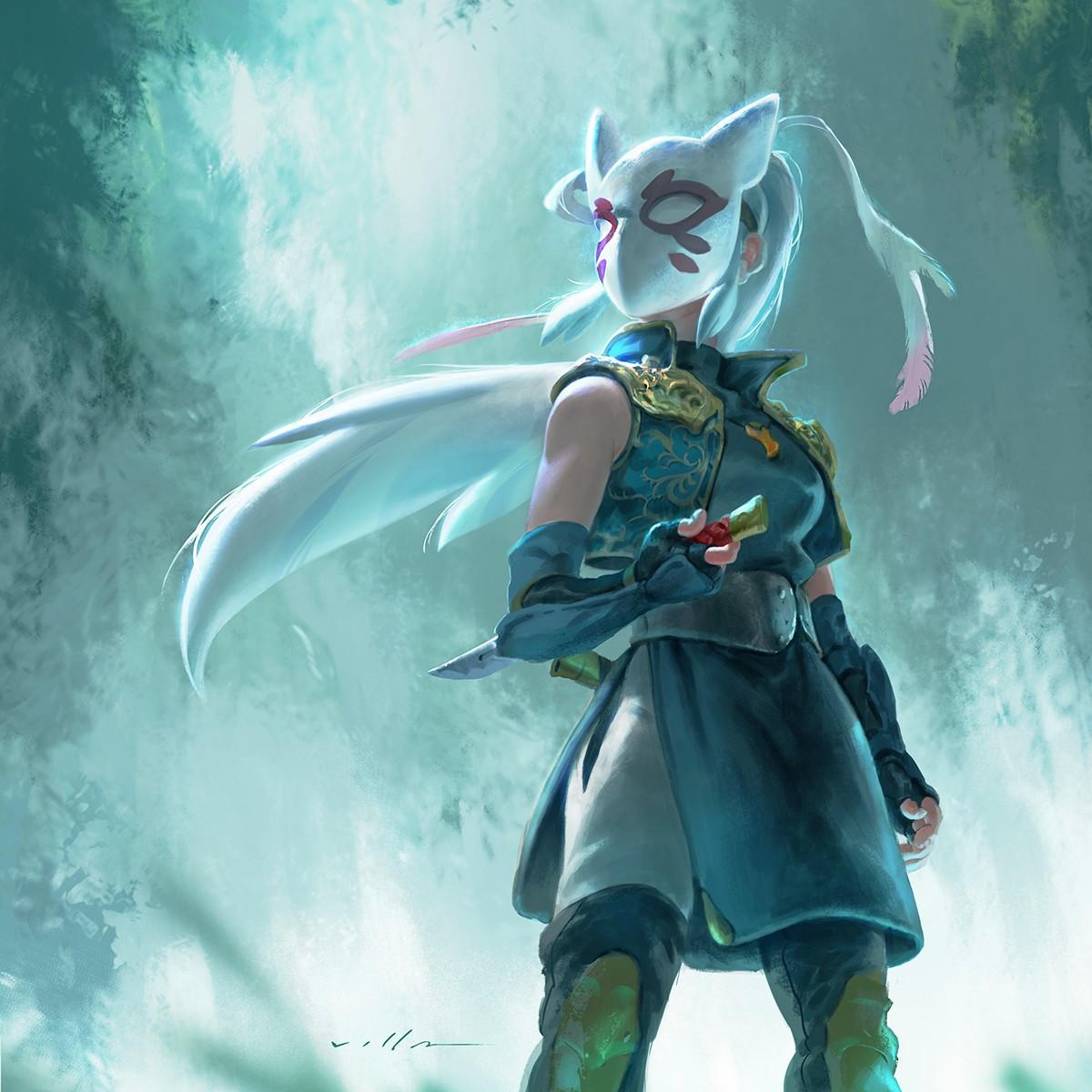 Wallpaper Illustration Fantasy Art Anime Mask Ninja