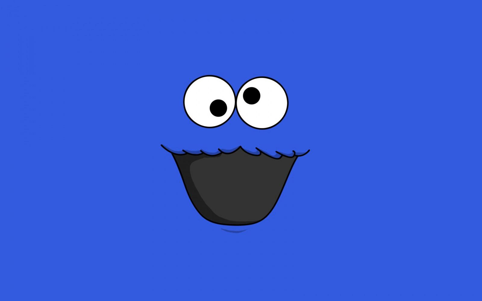 Fondos De Pantalla De Galletas: Fondos De Pantalla : Ilustración, Minimalismo, Fondo Azul