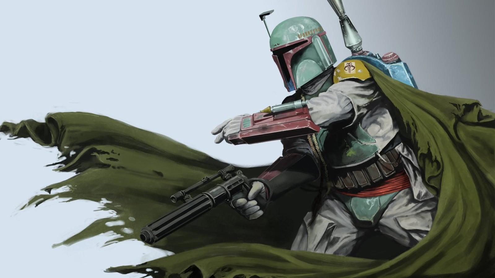 Wallpaper : Star Wars, soldier, Boba Fett, comics, Person ...