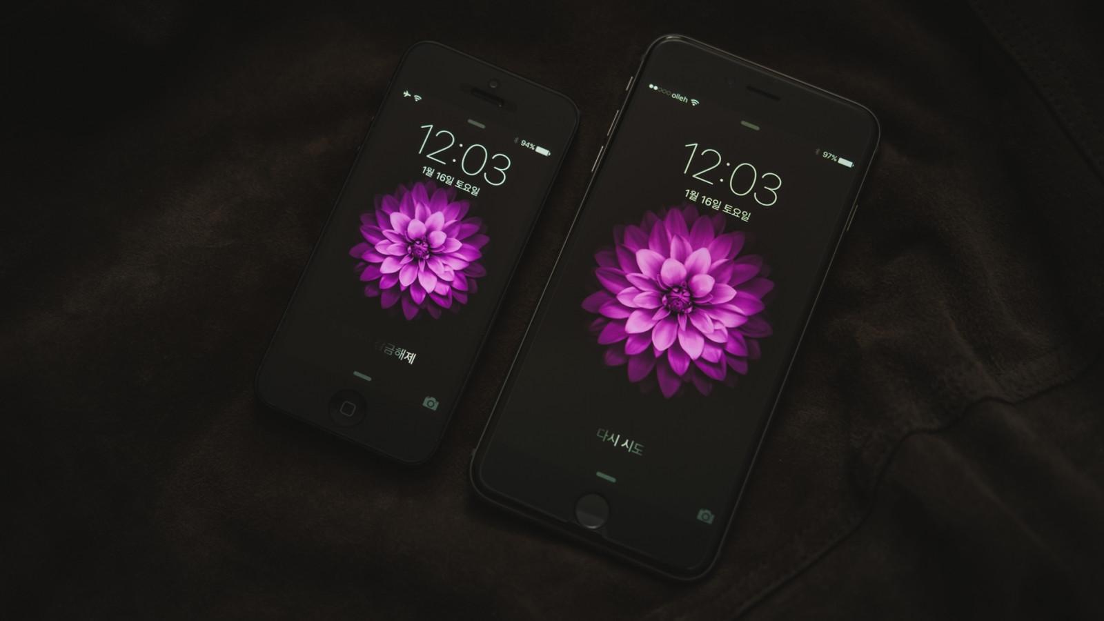Purple Iphone 6 Wallpaper 14276 Wallpaper: Wallpaper : Black, Purple, IPhone 6, Electronics, Color