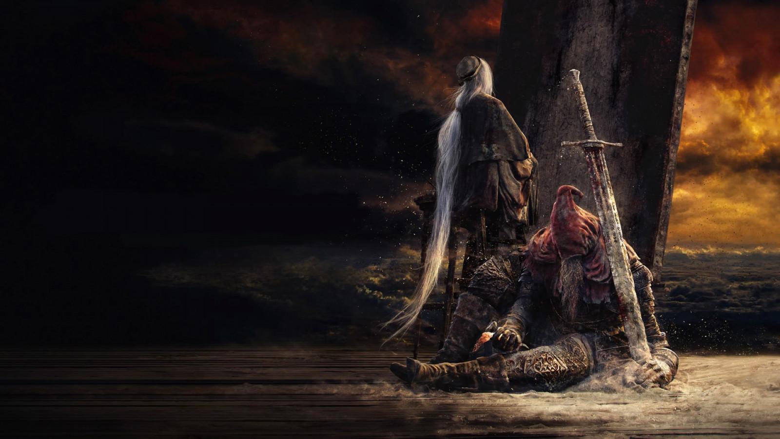 The Ringed City Wallpaper: Wallpaper : Dark Souls III, The Painter, Slave Knight Gael