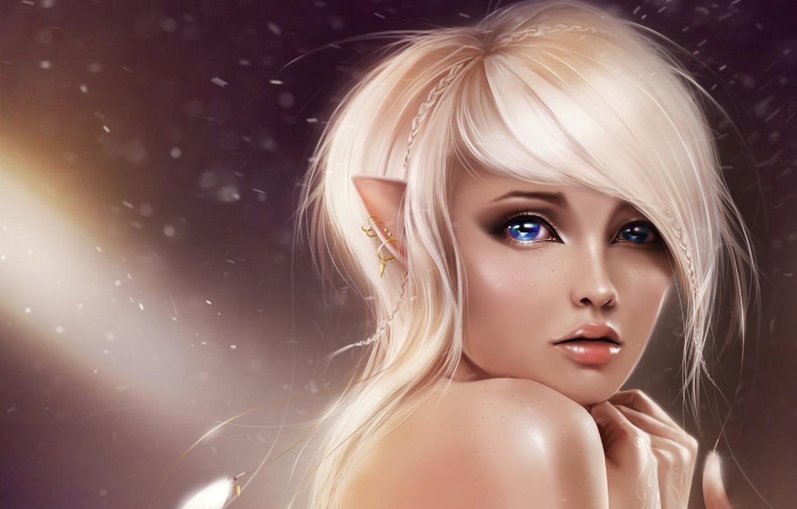 wallpaper digital art women model blonde long hair