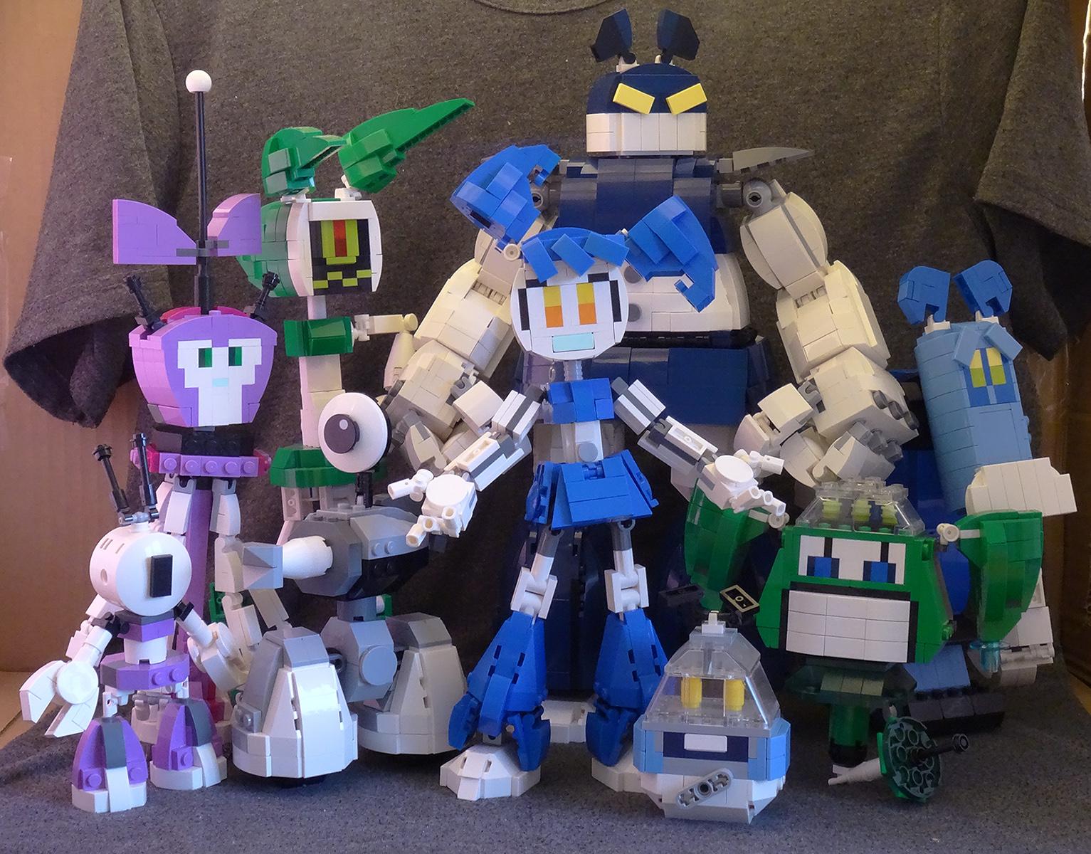 Fond D Ecran Fille Robot Lego Sœur Dessin Anime