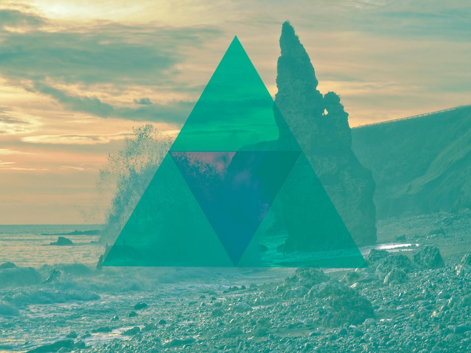 Открытки годом, картинка с треугольником