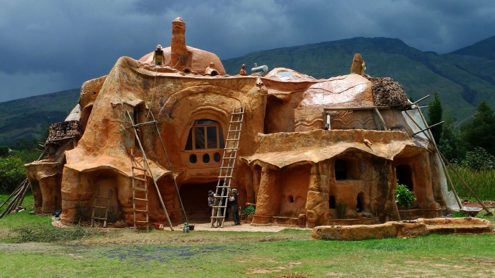 Fond d'écran : 1920x1080 px, architecture, bâtiment, des nuages, Colombie, forêt, herbe, maison ...