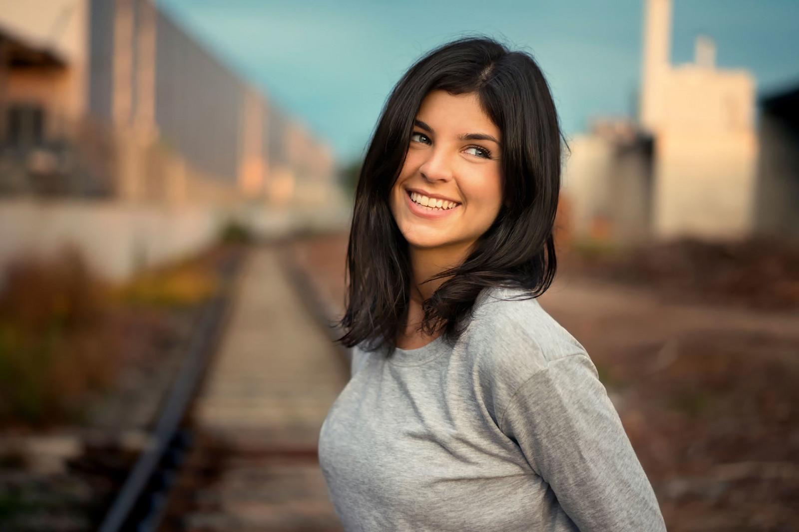Wallpaper Face Women Outdoors Model Looking Away