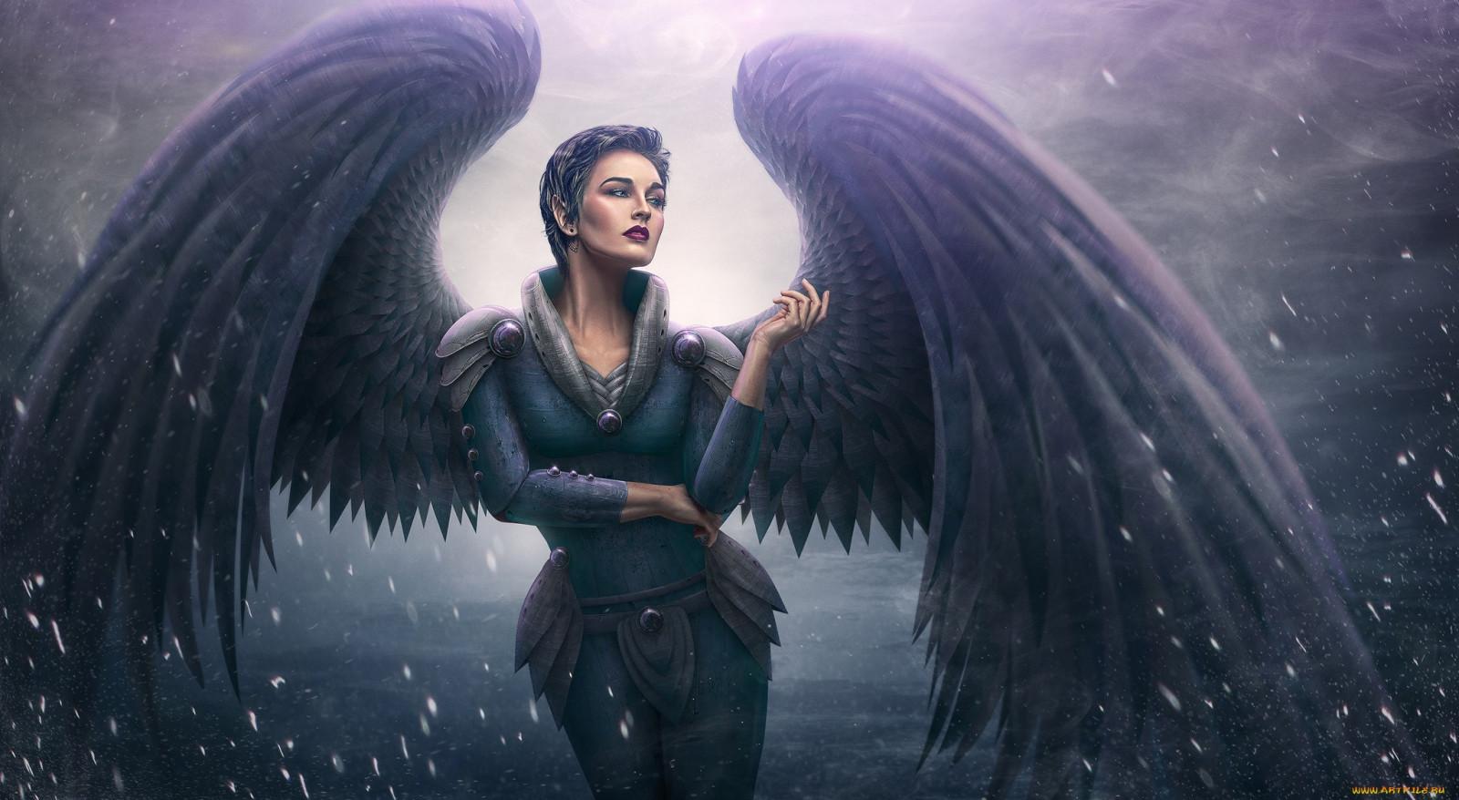 Днем объятий, картинки черный ангел красивые