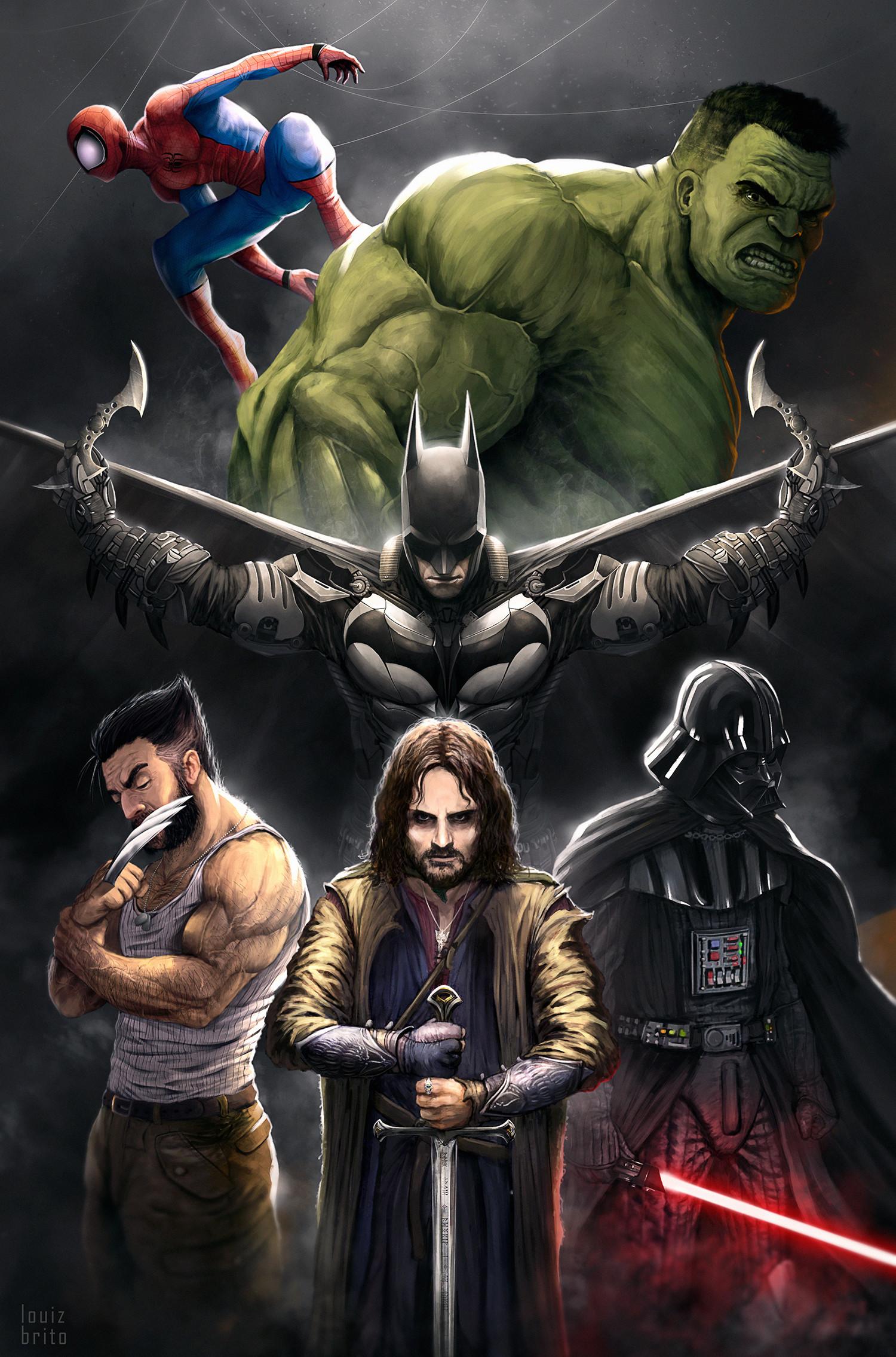 Wallpaper Marvel Comics Spider Man Wolverine Hulk Dc Comics Batman Star Wars The Lord Of The Rings Aragorn Darth Vader X Men 1500x2270 Emrakyz61 1442609 Hd Wallpapers Wallhere