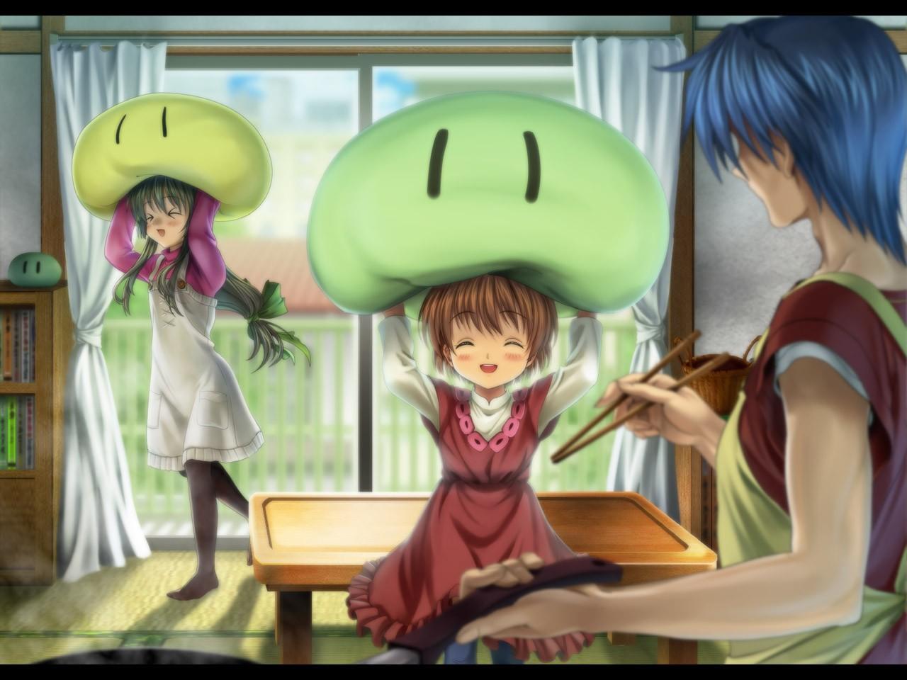 Wallpaper Illustration Anime Girls Cartoon Clannad Tomoya Okazaki Ushio Okazaki Ibuki Fuko Dango Screenshot Mangaka 1280x960 Ludendorf 20095 Hd Wallpapers Wallhere