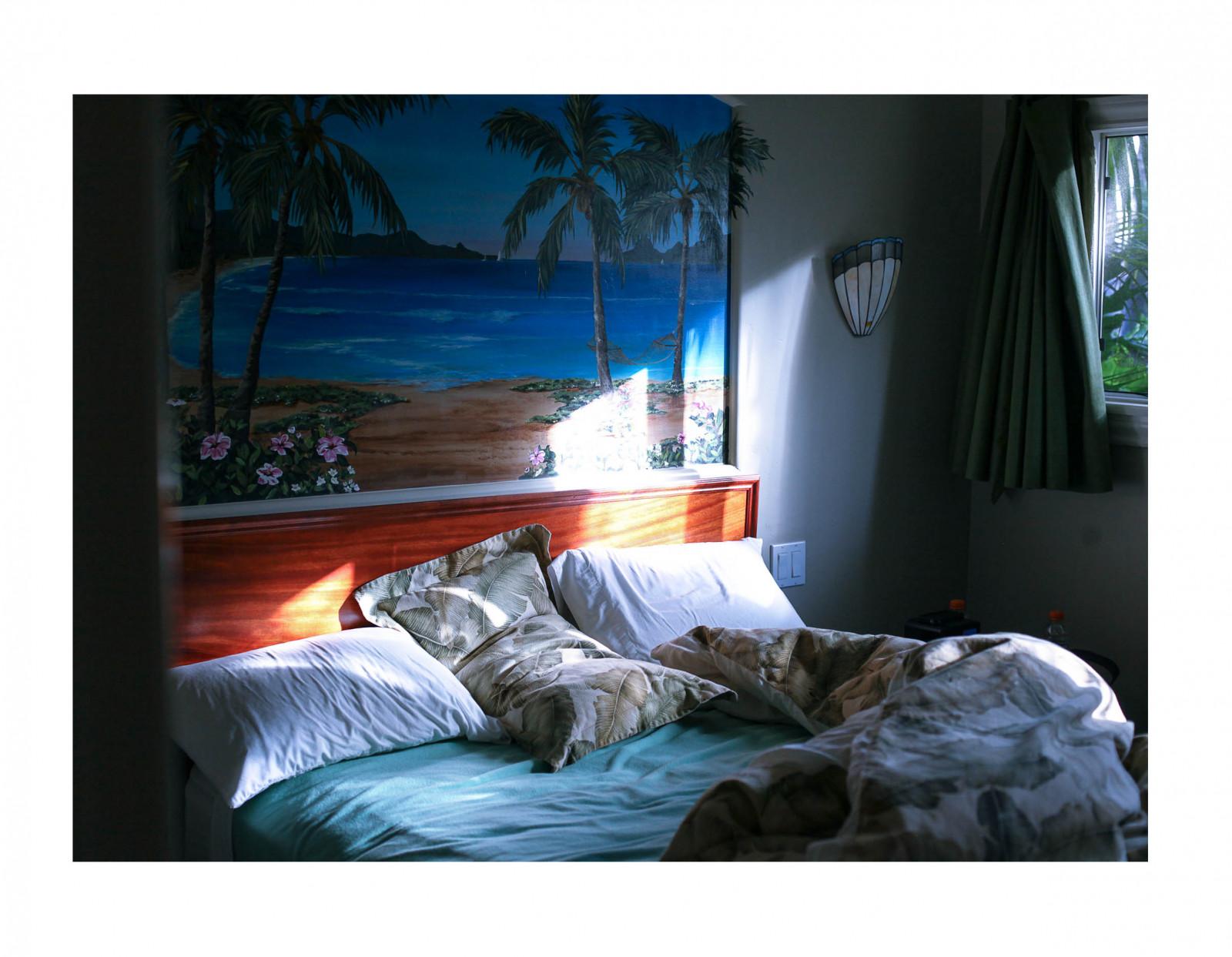 Fondos De Pantalla Pintura Ventana Habitaci N Cama Playa  # Muebles Hawaianos