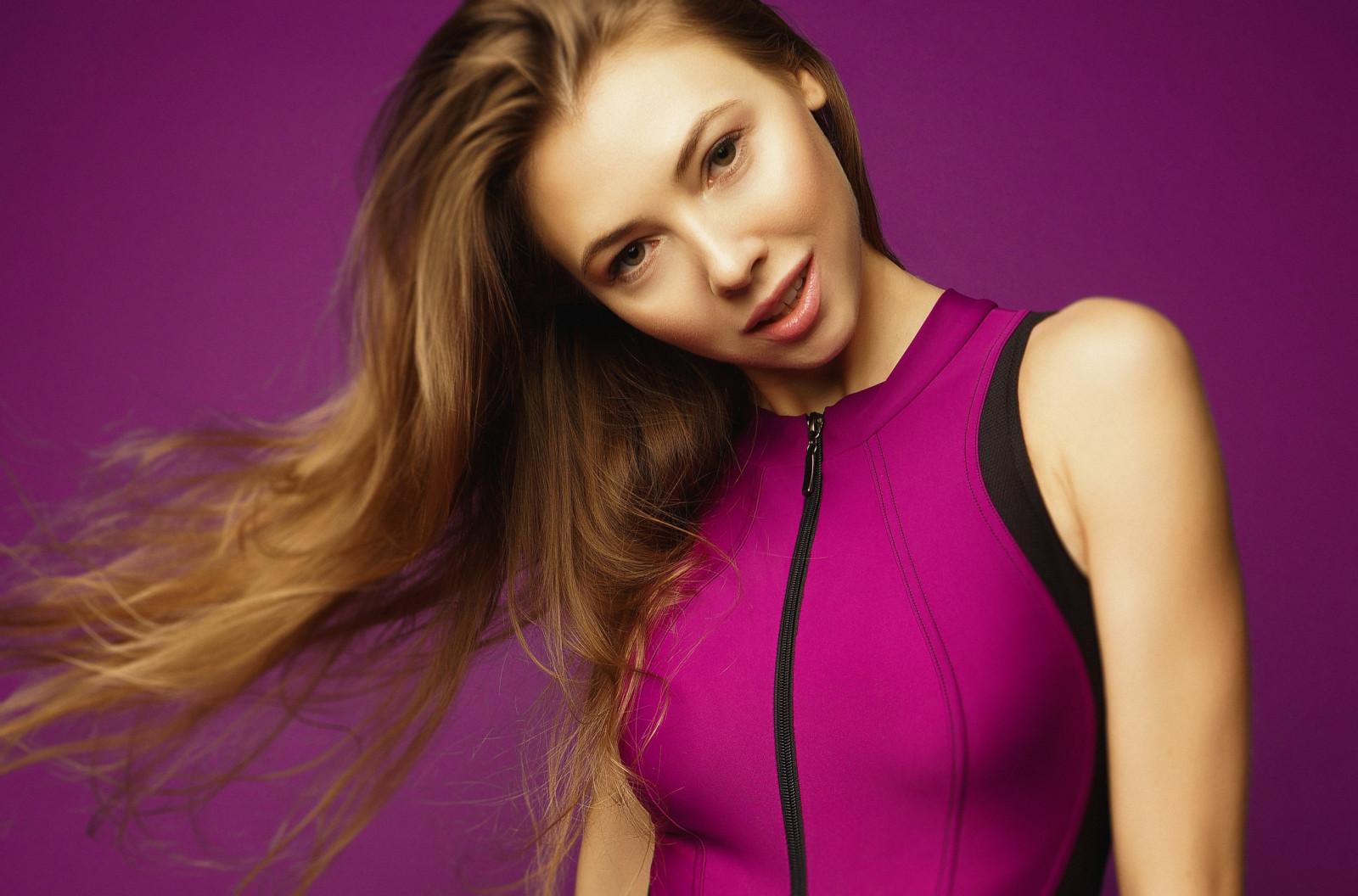 Katerina Bolinger Cute Bunny women model brunette indoors looking at viewer bokeh 1480763