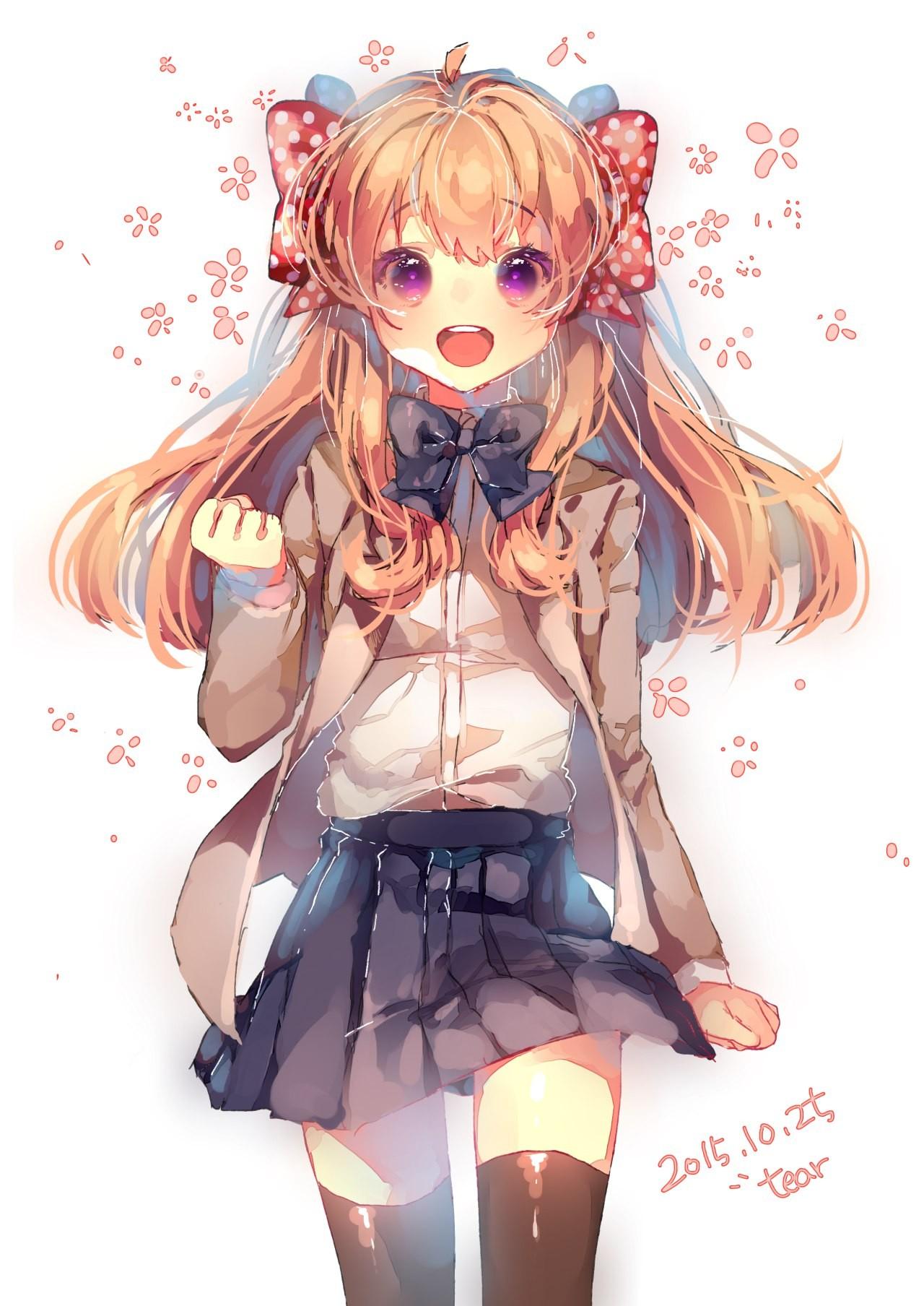 Wallpaper Illustration Anime Girls Cartoon School Uniform