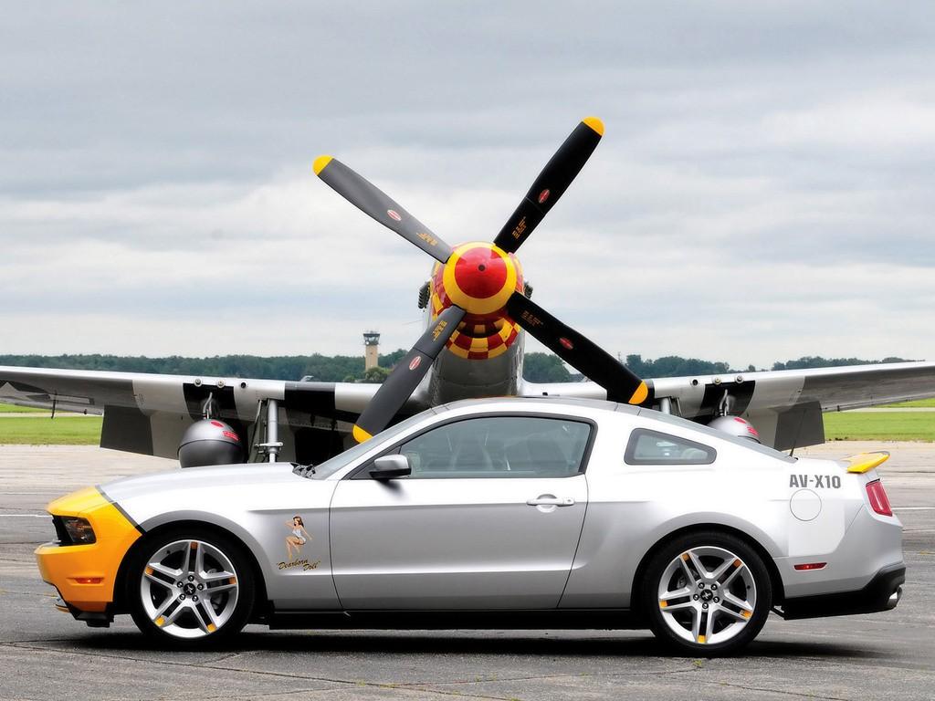 Mobil kendaraan pesawat terbang ford mustang mobil sport amerika utara p 51 mustang roda supercar kendaraan