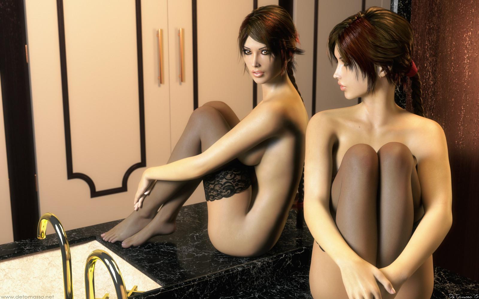 Lara Croft Strippt