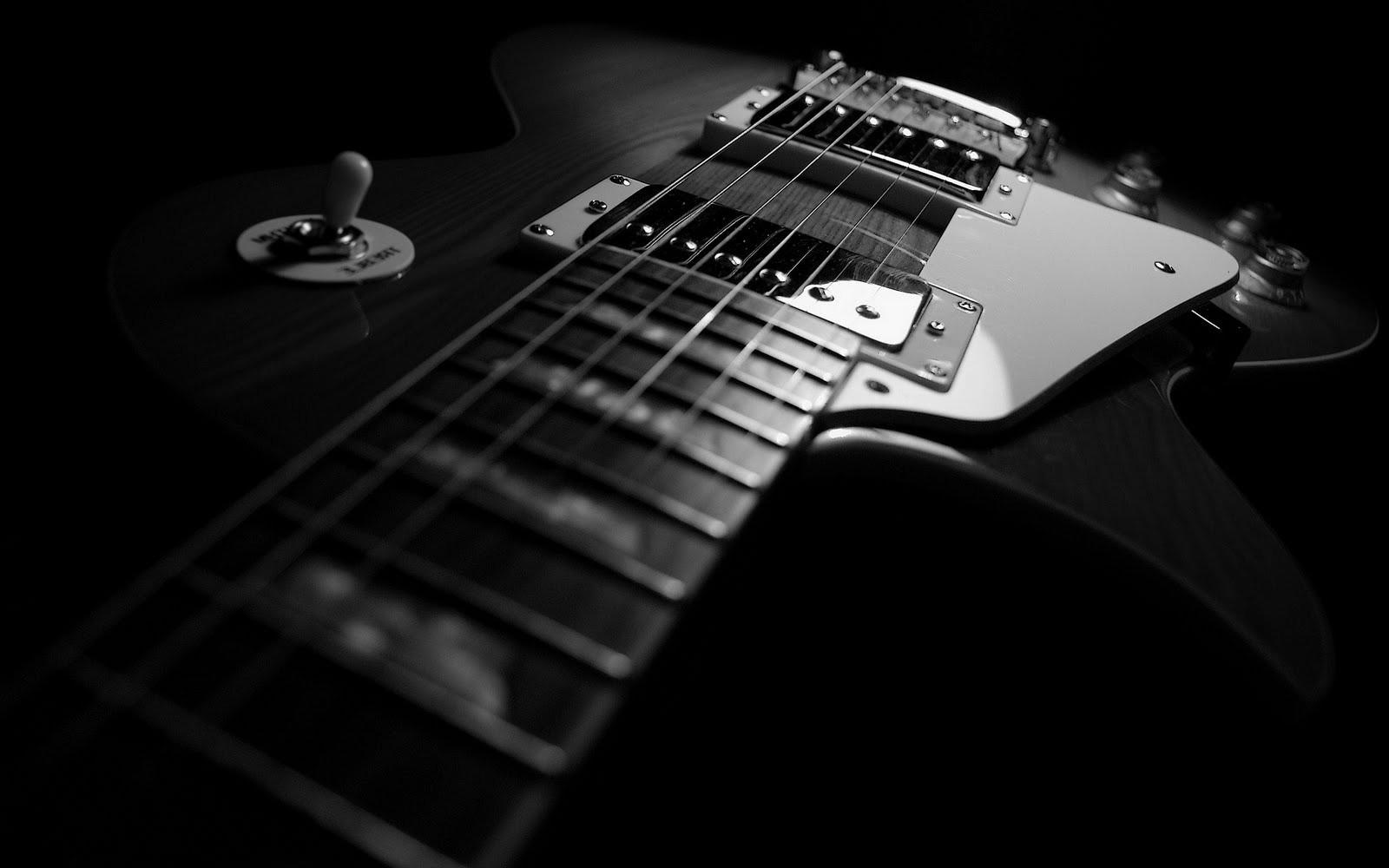 デスクトップ壁紙 ギタリスト エレキギター 黒と白 モノクロ写真