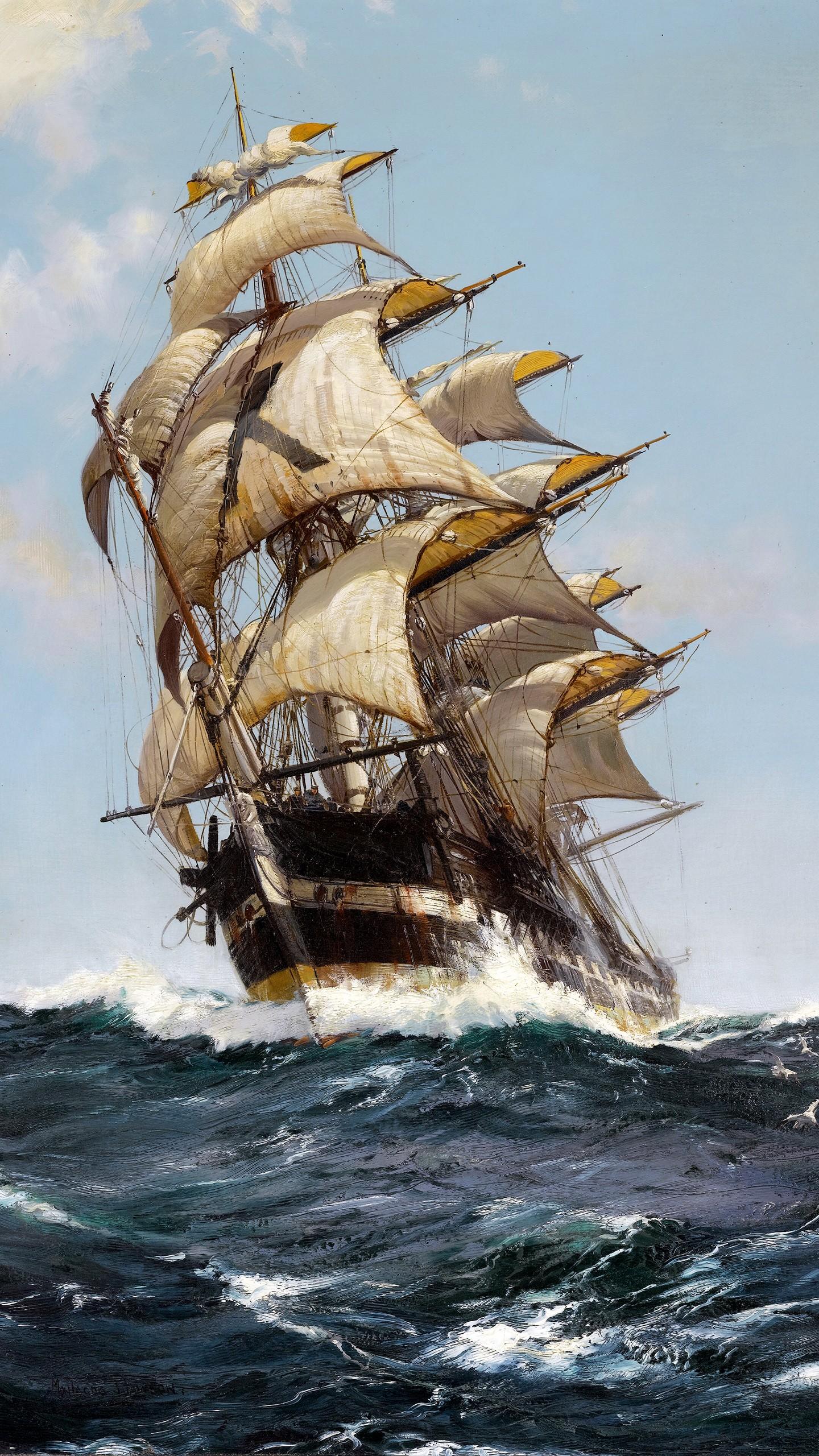 Masaustu Boyama Tekne Yelkenli Gemi Deniz Portre Ekrani
