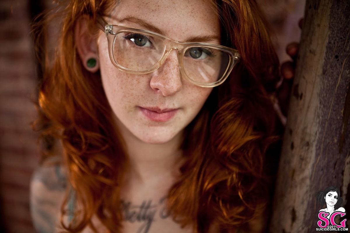 Wallpaper  Face, Redhead, Model, Long Hair, Women With Glasses, Sunglasses, Pornstar -1545