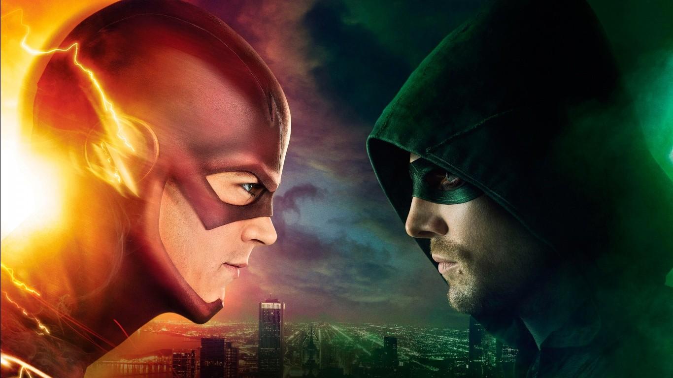Wallpaper : The Flash, Green Arrow, Arrow TV series, midnight