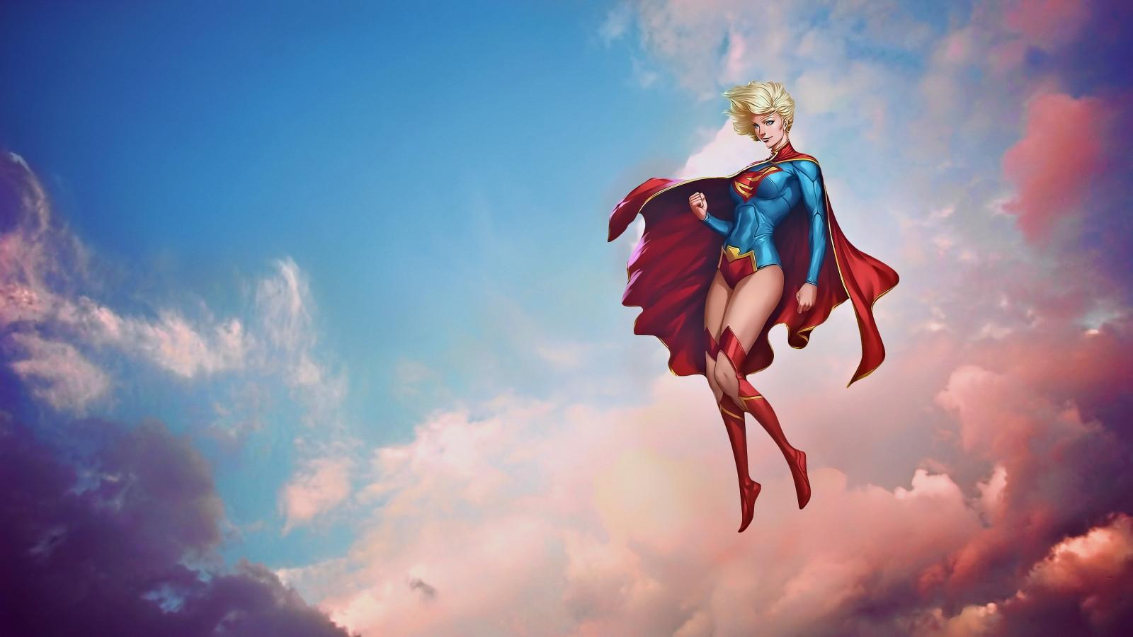 android живые обои supergirl