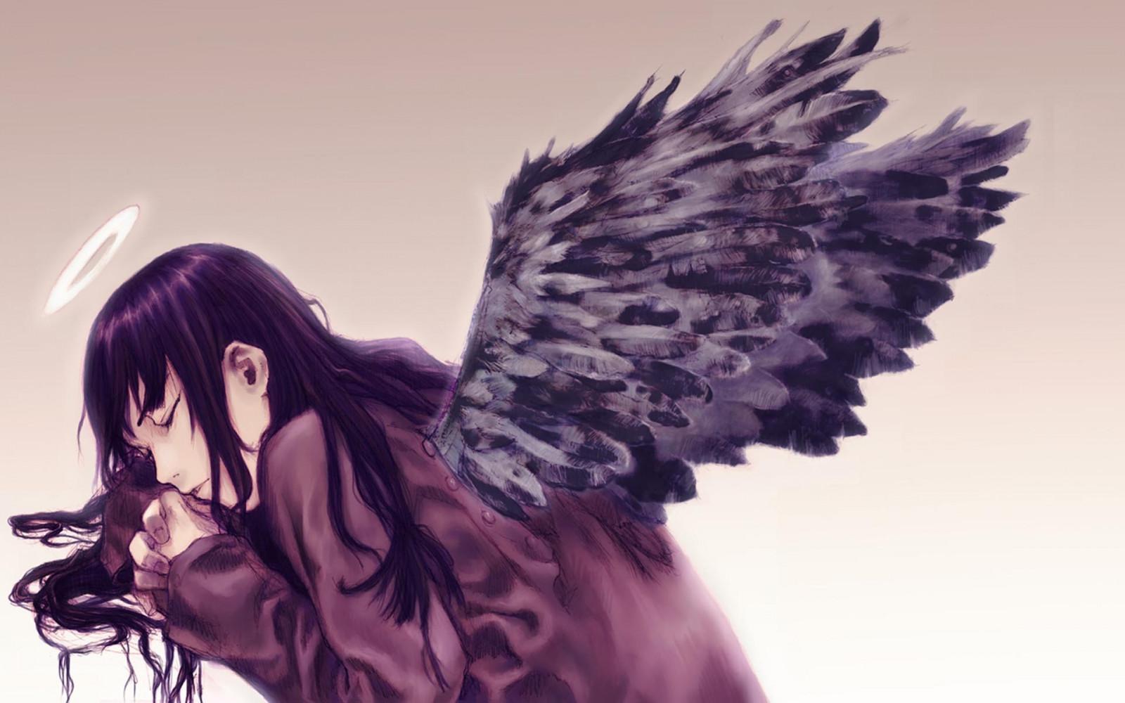 Ангелы картинки с черными волосами