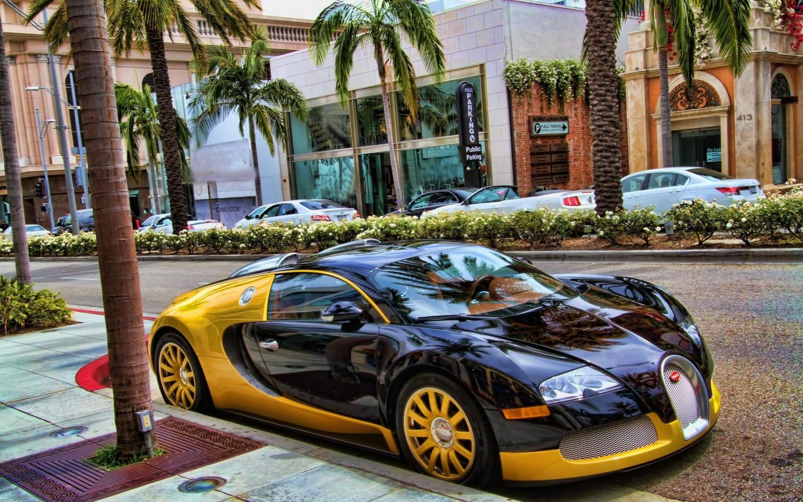 fond d 39 cran v hicule palmiers hdr los angeles super voiture voiture de sport bugatti. Black Bedroom Furniture Sets. Home Design Ideas