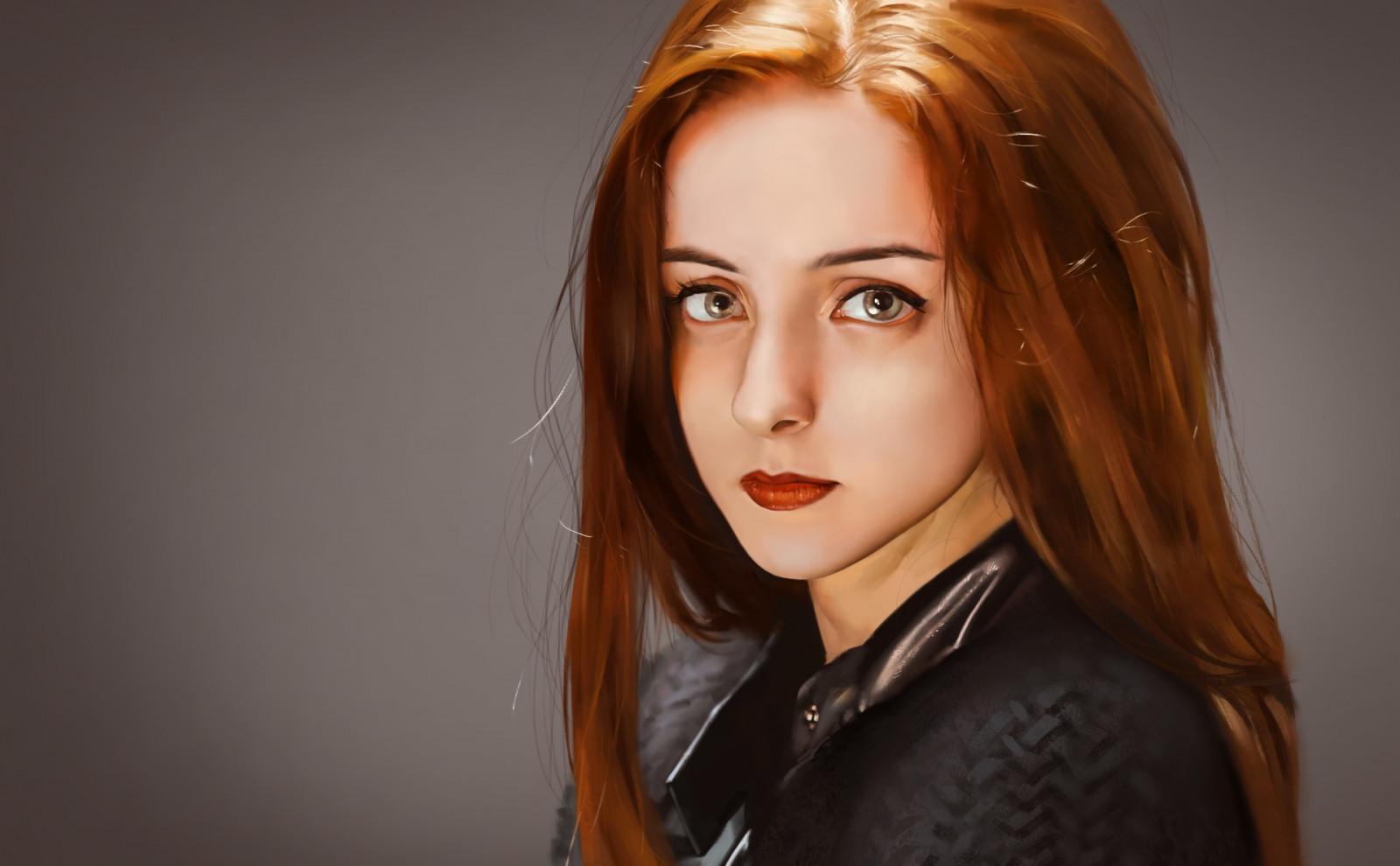 #1031147 women outdoors, women, redhead, model, portrait