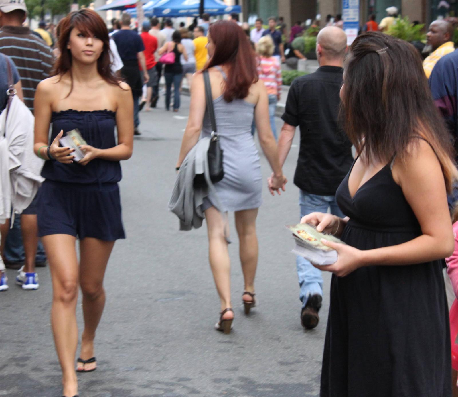 Wallpaper  Street, Asian, Dress, Cleavage, Fashion -9251