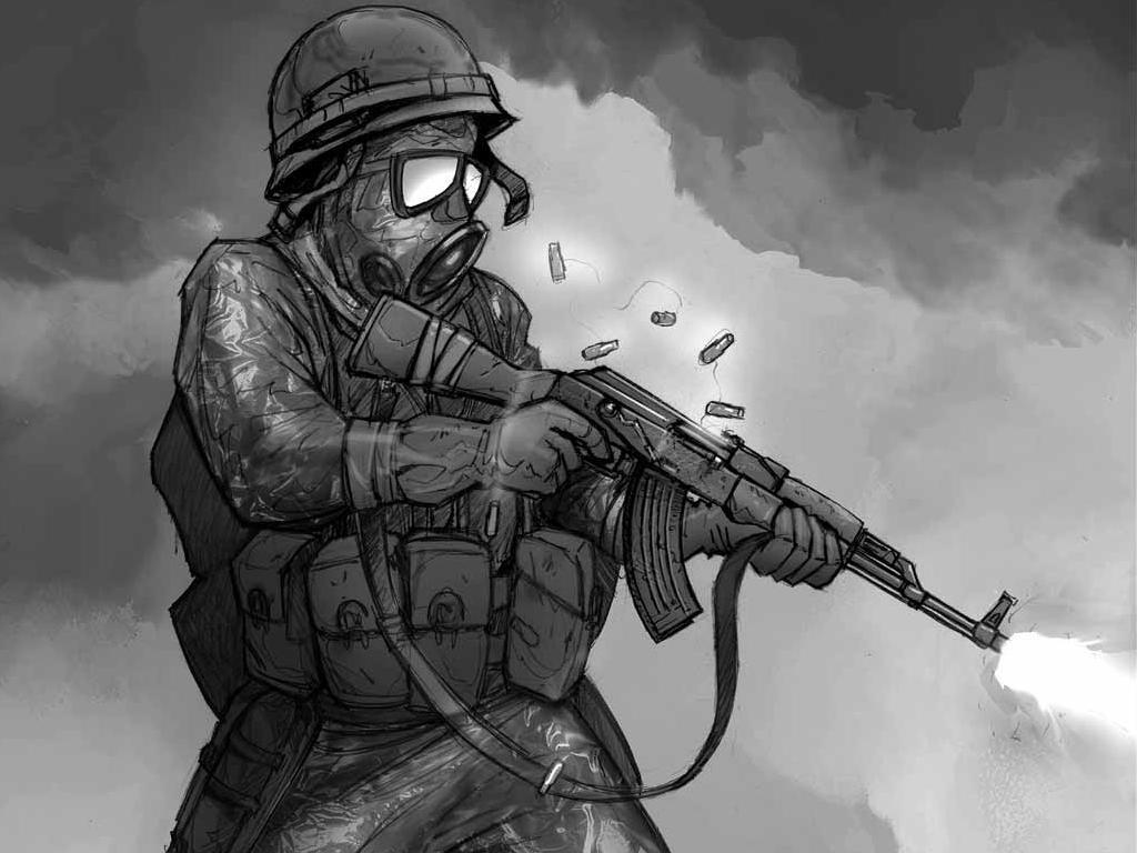 картинки солдат из игр с автоматом калашникова