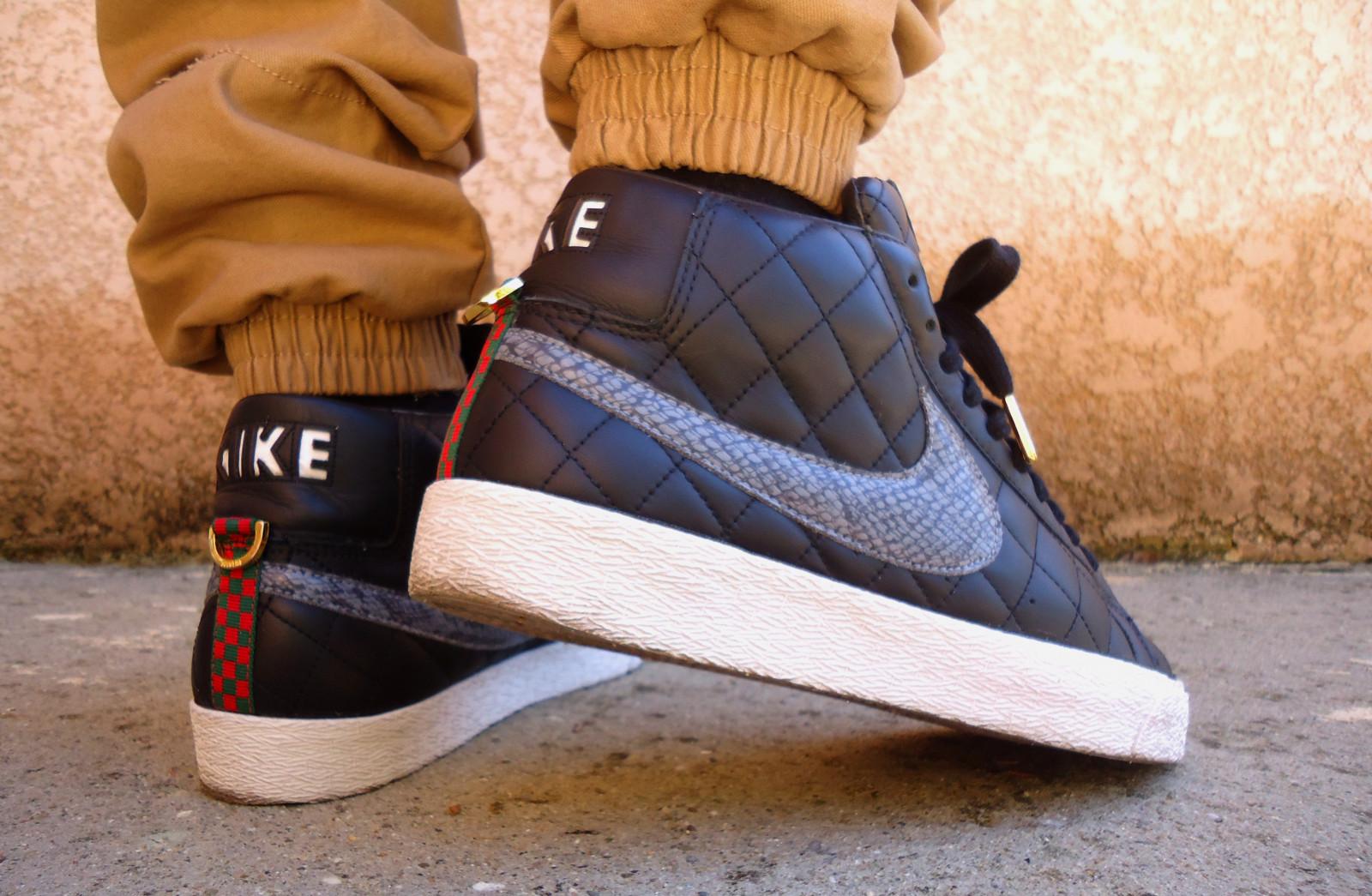 best service d1a61 0720e black leather Nike Gucci Blazer sb supreme wdywt
