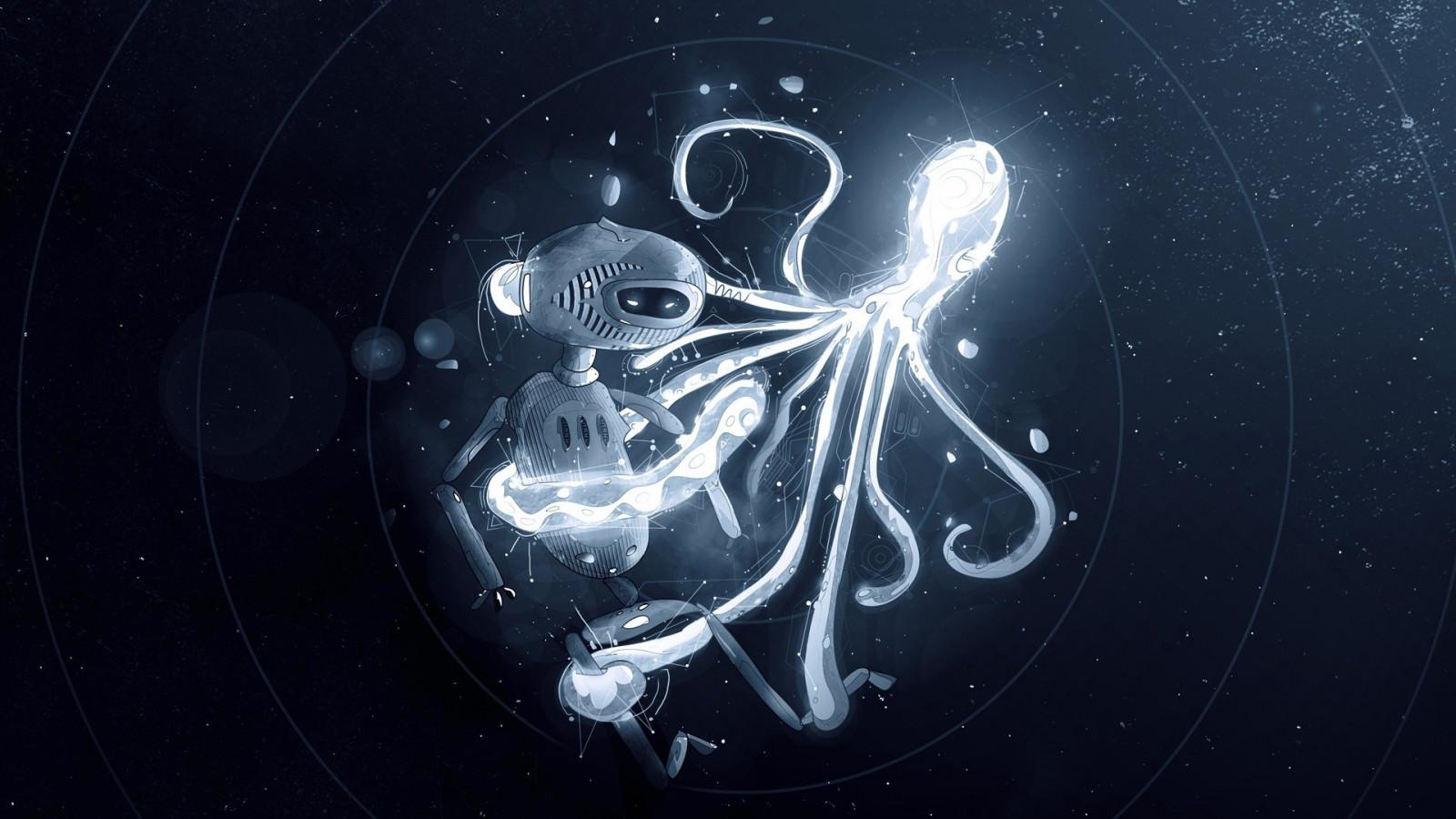 illustration robot space artwork octopus circle universe darkness screenshot 1920x1080 px computer wallpaper fractal art organ outer space astronomical object