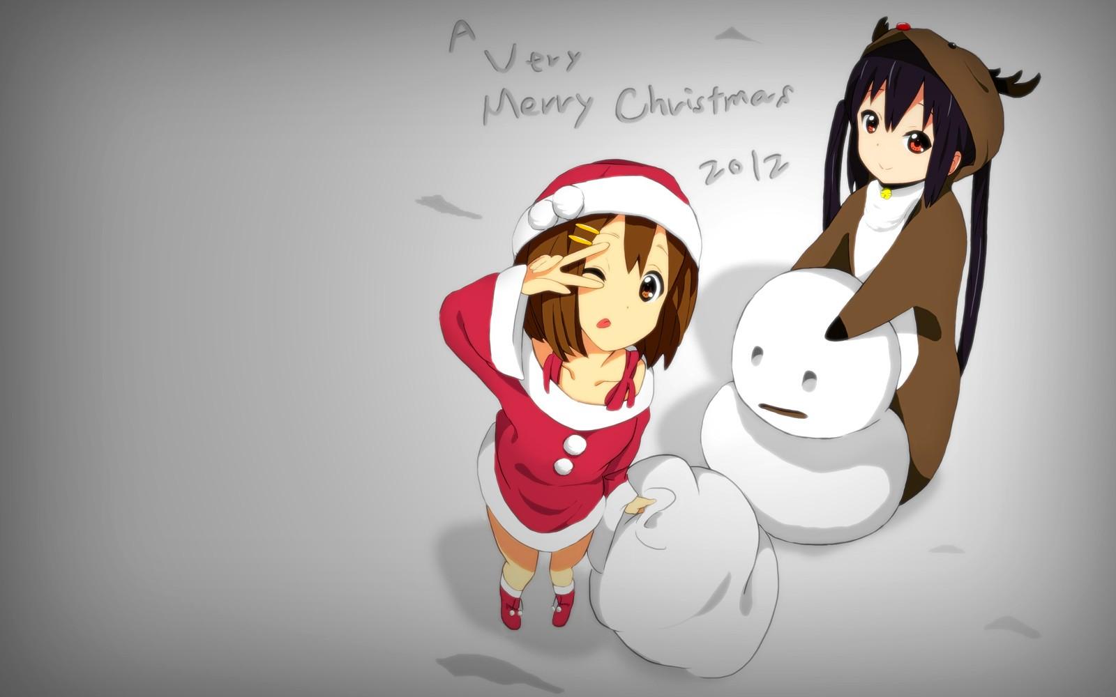 デスクトップ壁紙 図 アニメの女の子 漫画 クリスマス K On