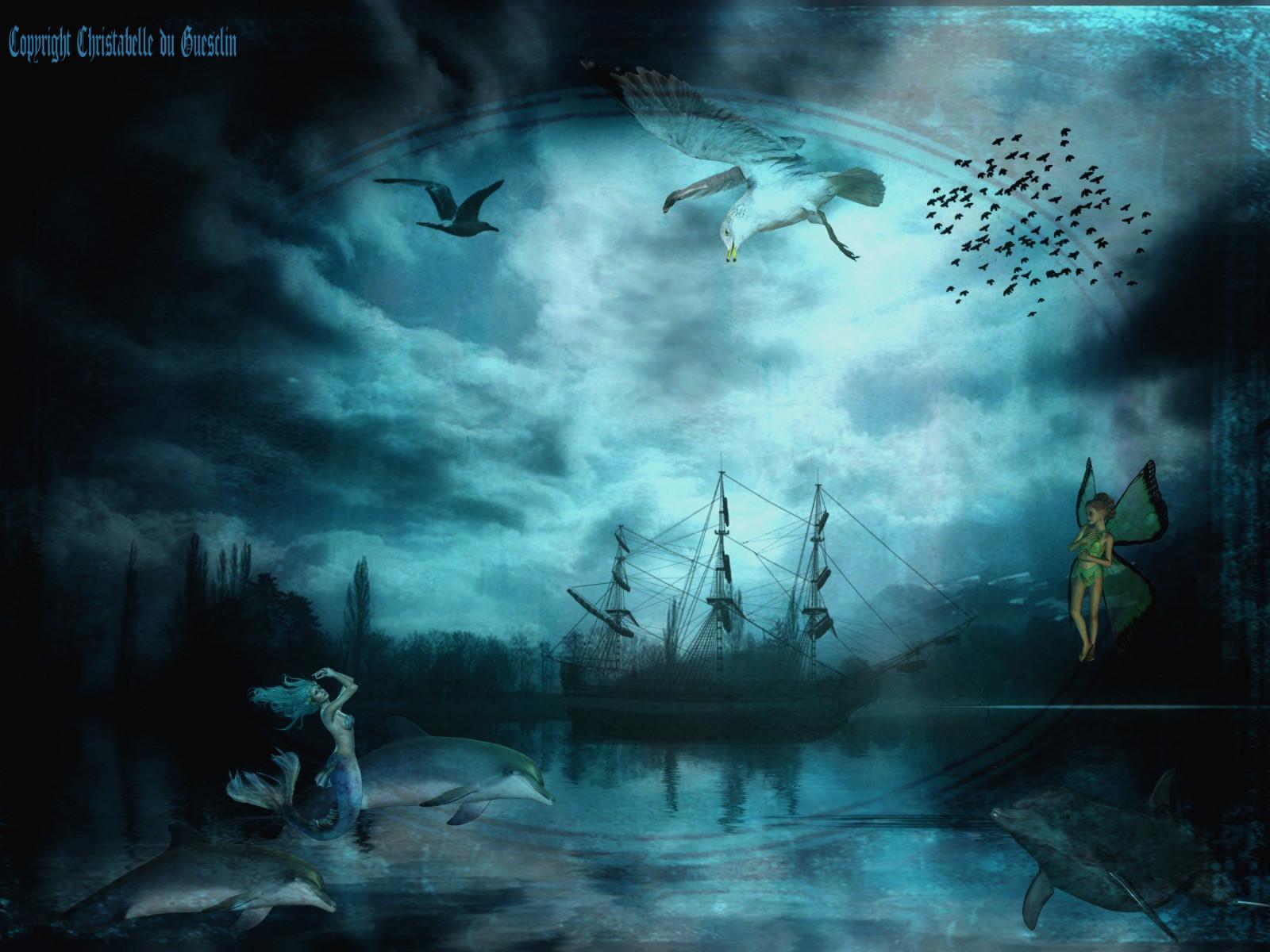 Tapety łódź Woda Rzeka Podwodny Tekstura Poezja
