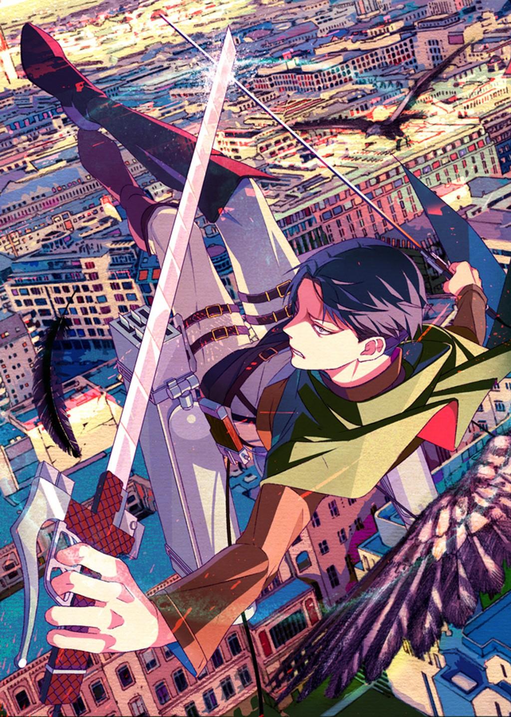 Wallpaper People Illustration City Anime Weapon Shingeki No Kyojin Comics Levi Ackerman Screenshot Comic Book 1024x1436 Microcosmos 50039 Hd Wallpapers Wallhere