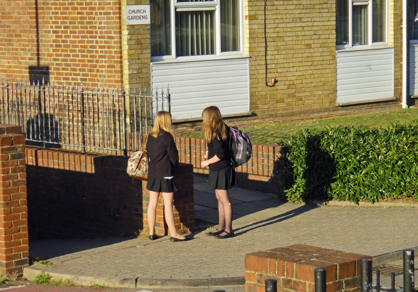 Wallpaper  School, Girls, Brown, Black, Hair, Shoes -5845