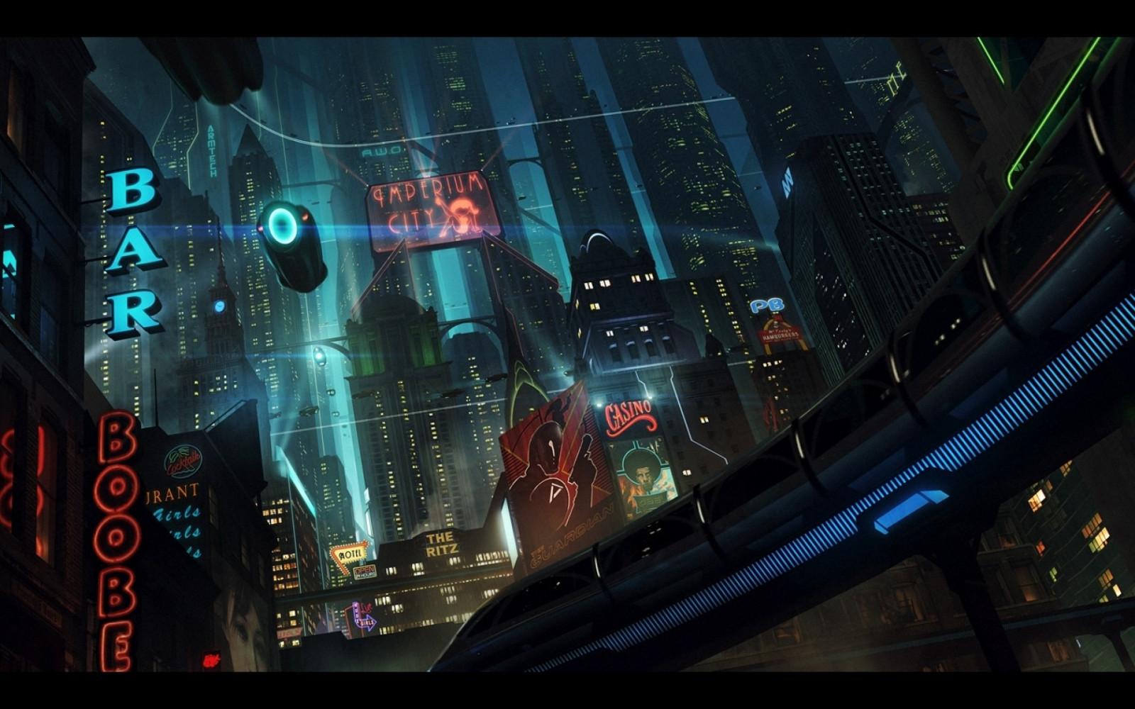 cityscapes futuristic wallpaper 1900x1041 - photo #5