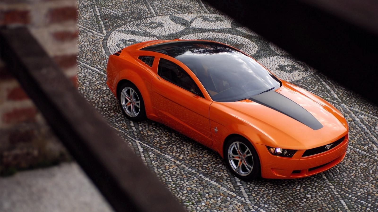 оранжевый форд мустанг #11